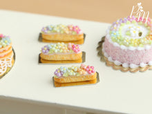 Load image into Gallery viewer, Rainbow Blossoms French Eclair - Miniature Food for Dollhouse 12th scale