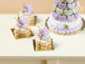 Cream-Filled Sablé with Purple Butterfly
