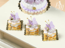 Load image into Gallery viewer, Cream-Filled Sablé with Purple Butterfly