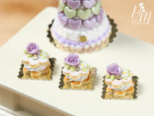 Load image into Gallery viewer, Cream-Filled Sablé with Purple Rose - Miniature Food in 12th scale