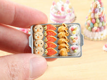Load image into Gallery viewer, Easter Fun Iced Cookies and Meringue Nests on Metal Baking Tray - Miniature Food in 12th Scale
