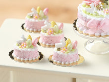 Load image into Gallery viewer, Easter Individual Pastry Decorated with Candy Eggs and Bunny - Light Pink