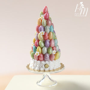 "Easter Pièce Montée ""Tree"" with Colourful Sugar Eggs"
