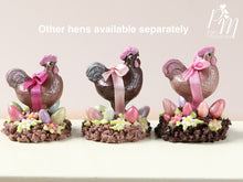 Load image into Gallery viewer, Milk Chocolate Hen Easter Display (B) - Miniature Food in 12th Scale for Dollhouse