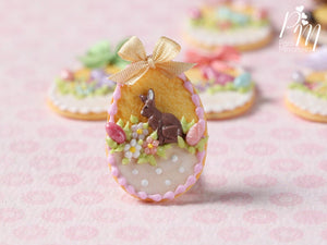 "Easter Egg Shortbread Sablé ""Basket"" Cookie (A) - Miniature Food in 12th Scale for Dollhouse"