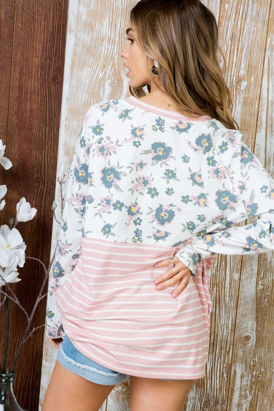 Women's top - Bella Floral Top Back