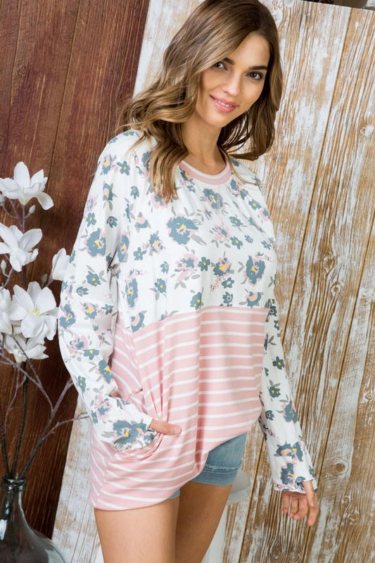 Bella Floral Top Front