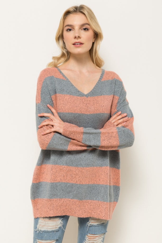 Chloe Crisscross Back Sweater Front