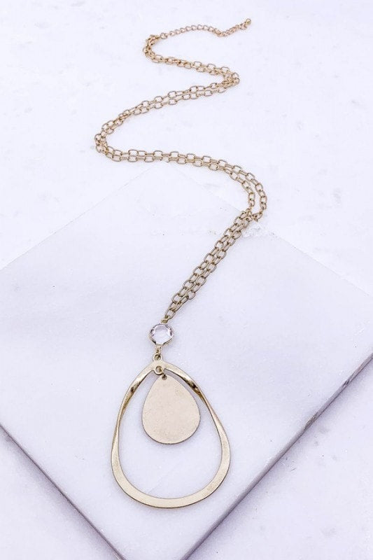 Circle of Life Bezel Necklace