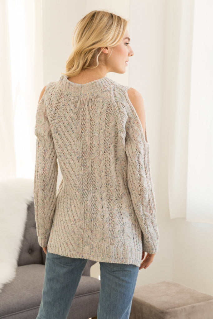 Color Burst Sweater Back