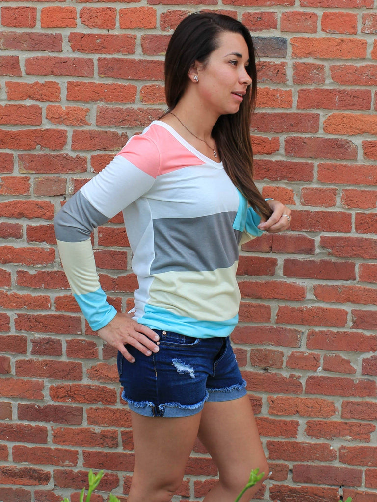 Cotton Candy Striped Top - Side