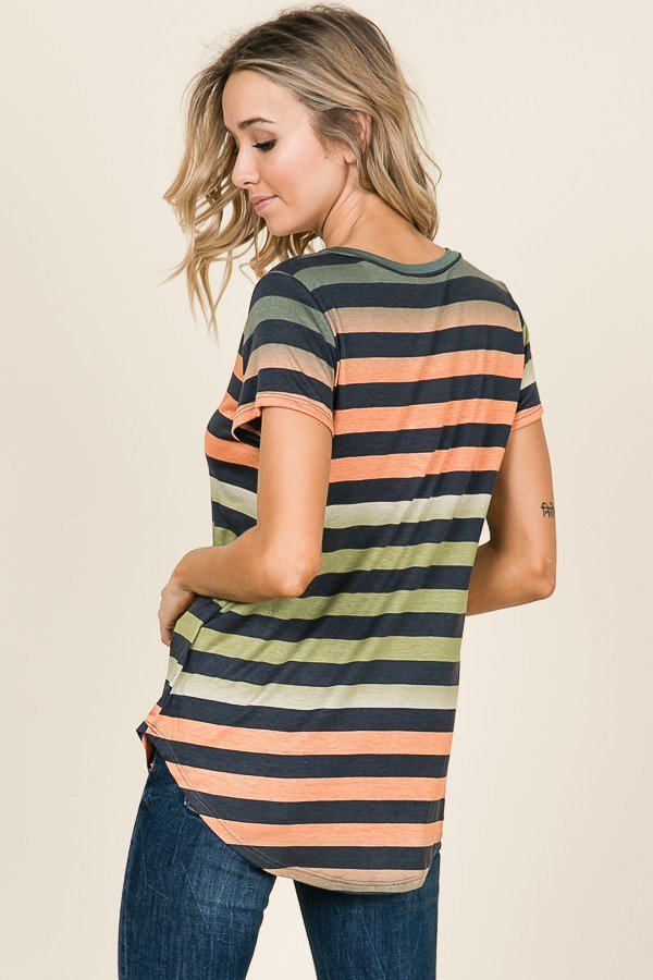 Daybreak Striped Top - Back