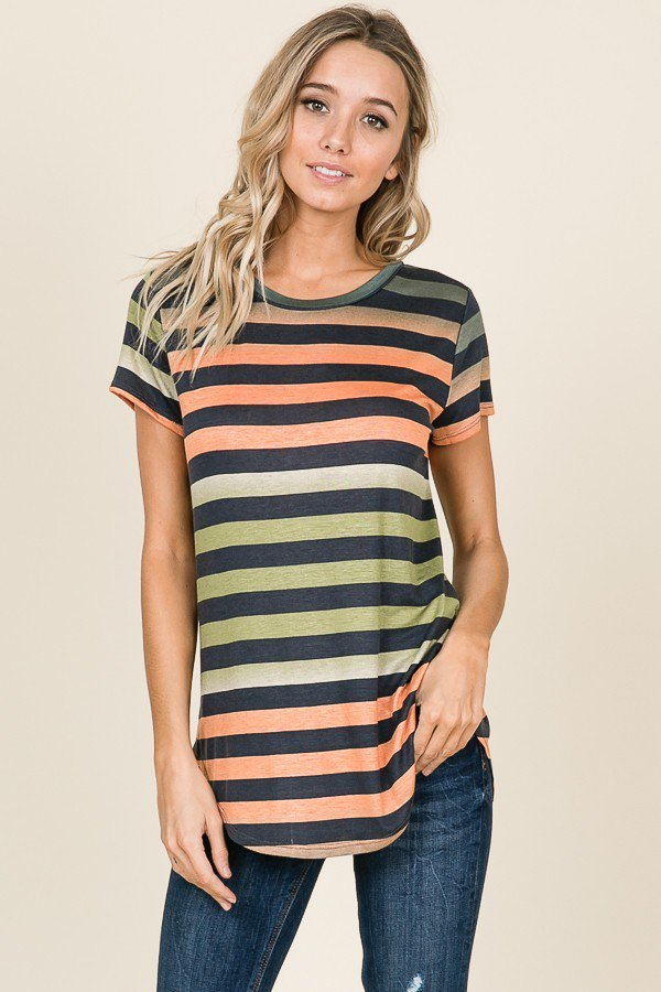 Daybreak Striped Top - Front