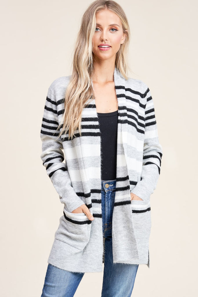 Finish Strong Striped Cardigan