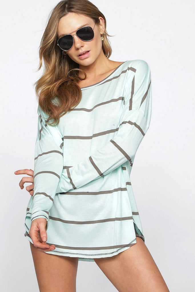 Free Fall Top - Light Mint