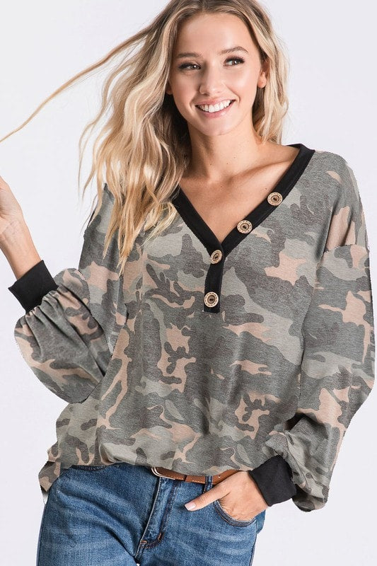 Incognito Camo Top