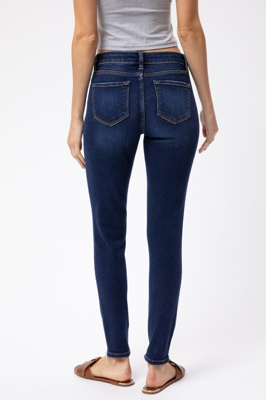 KanCan - Mid Rise Distressed Super Skinny Jeans