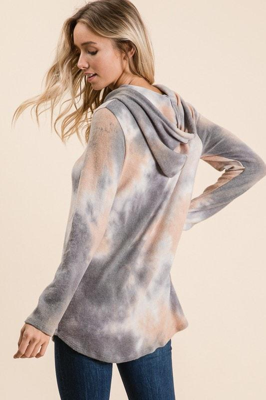 Simple Shadows Tie Dye Top