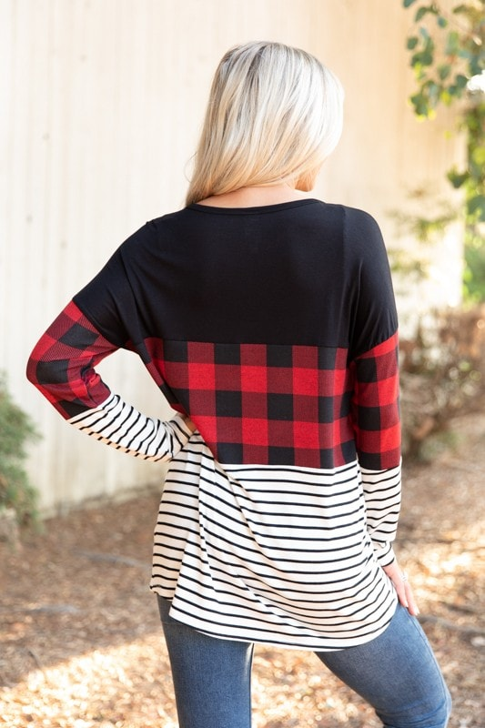 This Is It Buffalo Plaid Top