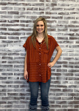 Load image into Gallery viewer, Sallie Striped Tunic RUST