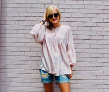 Load image into Gallery viewer, Boho Babe Blouse MAUVE