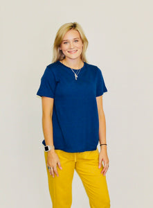 Never Fear Basic Tee SNORKEL BLUE