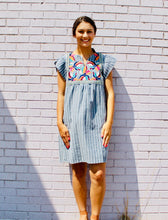 Load image into Gallery viewer, Sweet Side Embroidered Dress GREY