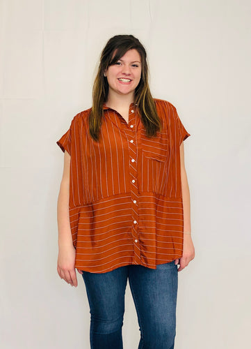 Sallie Striped Tunic RUST