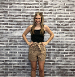 Paula Paper Bag Shorts LIGHT KHAKI