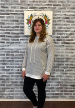 Load image into Gallery viewer, White Birch Long Sleeve Striped Hoodie
