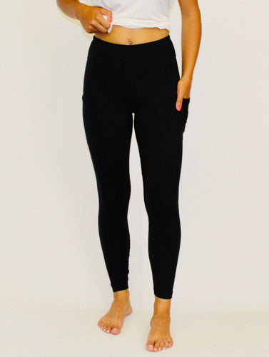 Butter Leggings with Pockets! {regular and CURVY} BLACK