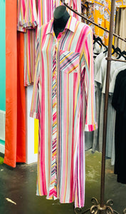 Torren Striped Dress/Duster