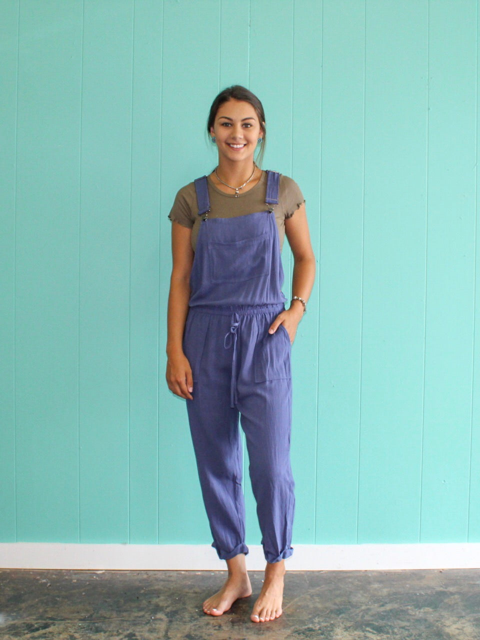 Last Chance Linen Overall DENIM