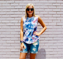 Load image into Gallery viewer, Forever Summer Tie Dye Tank PURPLE/MAUVE