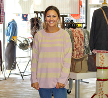 Load image into Gallery viewer, Cozy Time Sweater MAUVE/OATMEAL