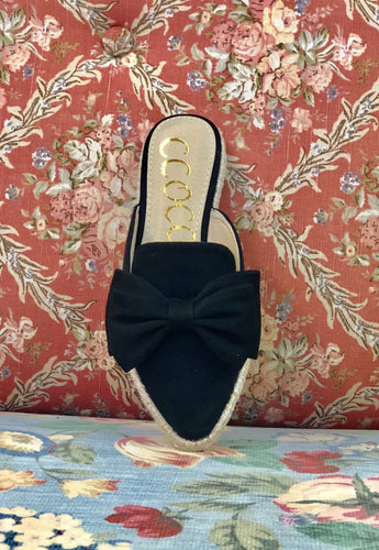 Ccocci Black Bow Slip On CANDY