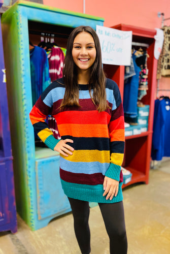 Never Too Late Sweater RAINBOW