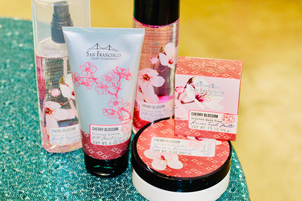 Cherry Blossom Bath Collection