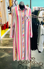 Load image into Gallery viewer, Torren Striped Dress/Duster