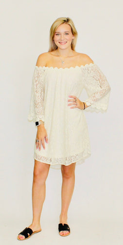 Wedding Bells Lace Dress NATURAL