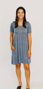 Molly Babydoll Dress TITANIUM