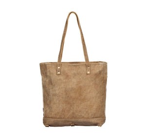 Cocoa Leather & Hair On Bag