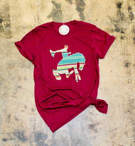 Bucking Horse Applique Graphic Tee