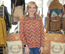 Load image into Gallery viewer, Hooked On Chevron Sweater