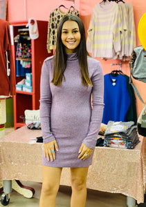 Brilliance Bodycon Sweater Dress VINTAGE VIOLET