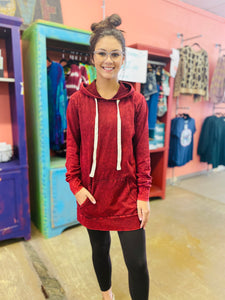 Care Free Hooded Tunic CABERNET