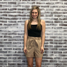 Load image into Gallery viewer, Paula Paper Bag Shorts LIGHT KHAKI