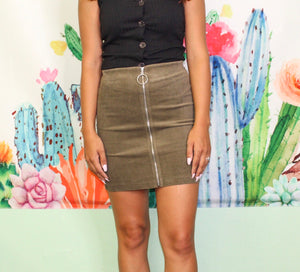 So In Love Skirt OLIVE