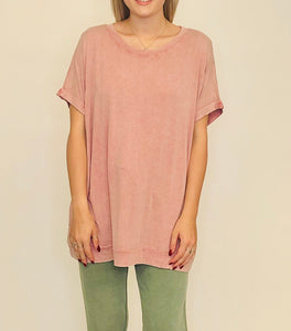 Over It Oversize Tunic ROSE POWDER