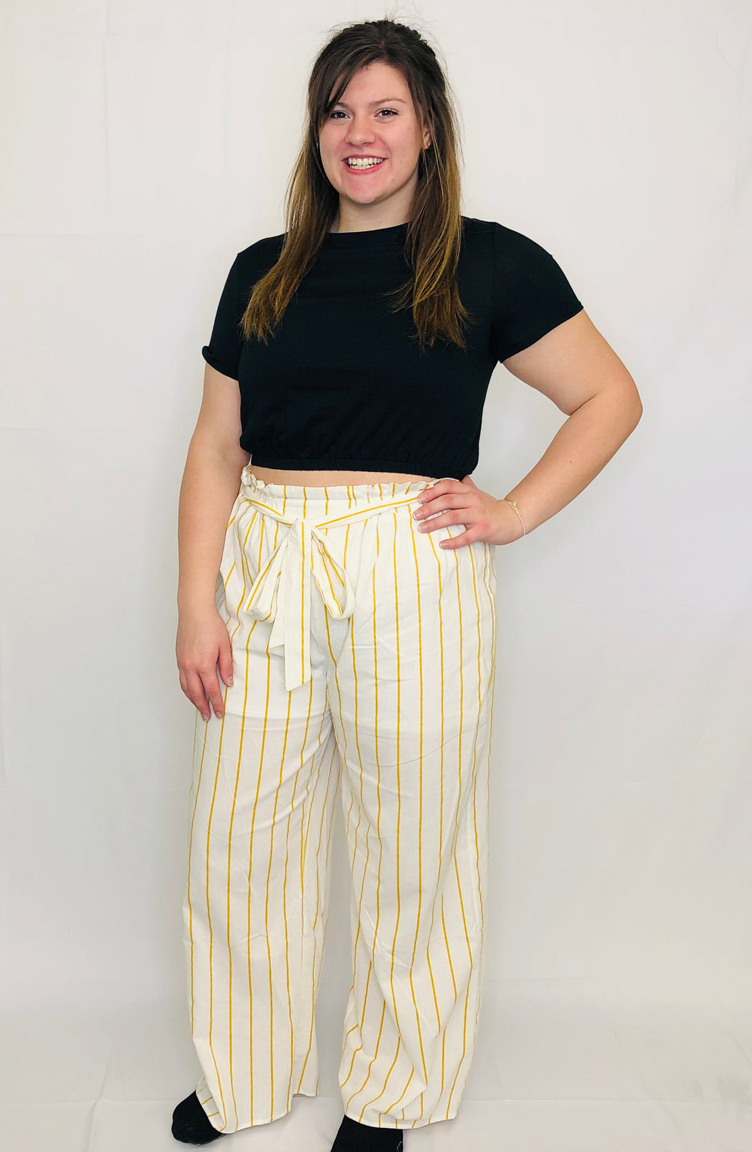 May Paper Bag Pants YELLOW